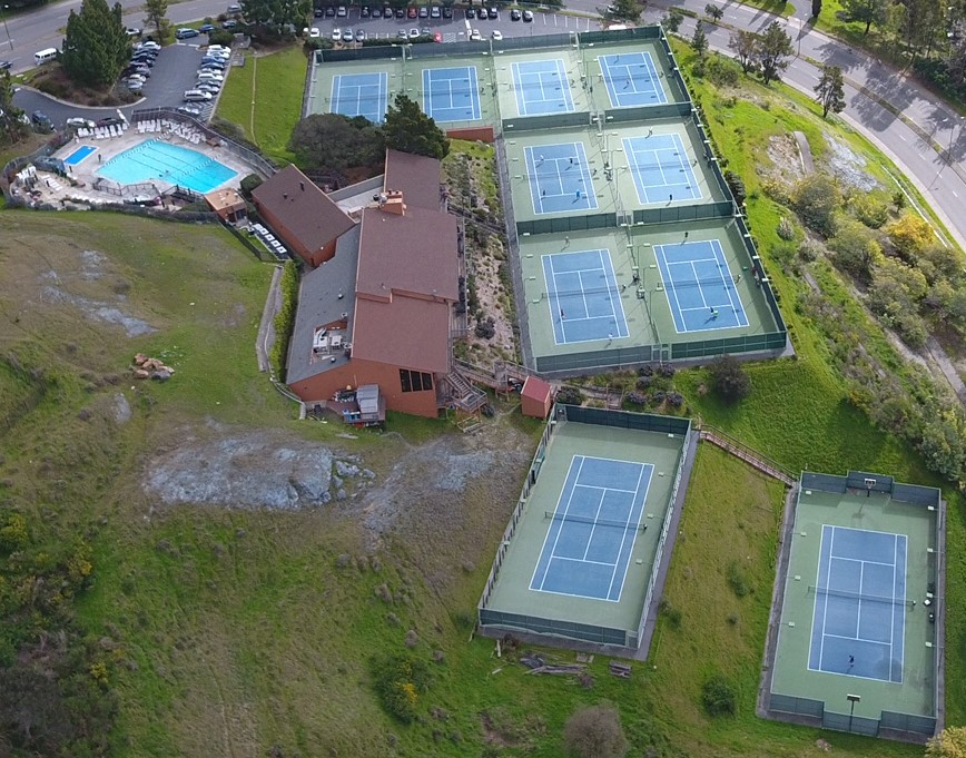 Ariel view of club