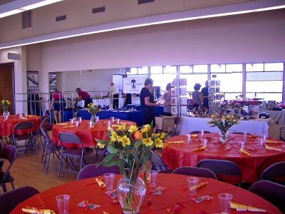 Tables at Invitational Party
