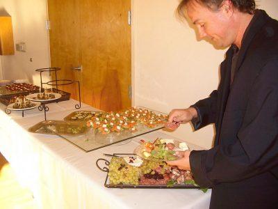 Food at Invitational Party